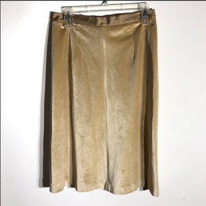 Banana Republic Camel Velvet Feel Skirt